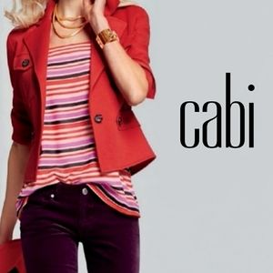 CAbi London Is Calling Mod Striped Cami Sz S